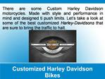 Customized Harley Davidson Bikes