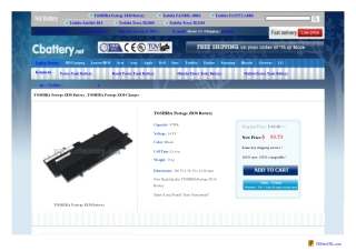 TOSHIBA Portege Z830 battery and TOSHIBA Portege Z830 charge