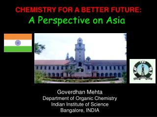 CHEMISTRY FOR A BETTER FUTURE: