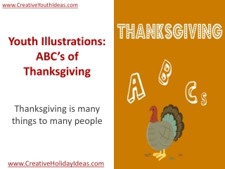 Youth Illustrations: ABC's of Thanksgiving