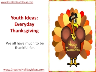 Youth Ideas: Everyday Thanksgiving