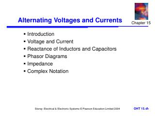 Alternating Voltages and Currents