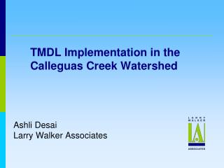 TMDL Implementation in the Calleguas Creek Watershed