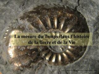 La mesure du Temps dans l histoire de la Terre et de la Vie