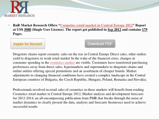 Cosmetic Products Retail Market in Central Europe 2012 - RnR