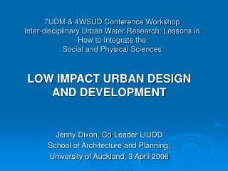 7UDM  4WSUD Conference Workshop