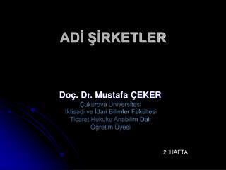 ADI SIRKETLER