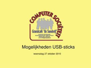 Mogelijkheden USB-sticks