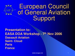 European Council of General Aviation Support
