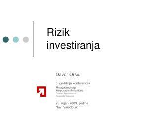 Rizik  investiranja