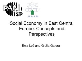 Social Economy in East Central Europe. Concepts and Perspectives