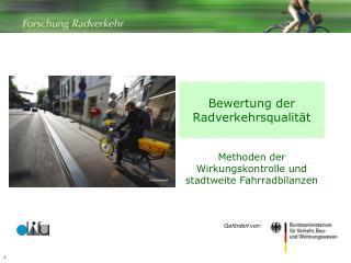 Bewertung der Radverkehrsqualit t