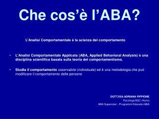 Che cos   l ABA