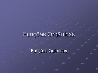 Fun  es Org nicas