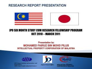 RESEARCH REPORT PRESENTATION