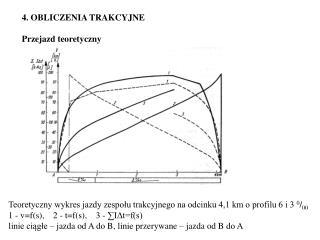 4. OBLICZENIA TRAKCYJNE   Przejazd teoretyczny