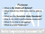 Florida Comprehensive Assessment and YOUR Child