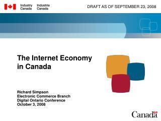 The Internet Economy  in Canada