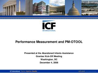Performance Measurement and PM-OTOOL