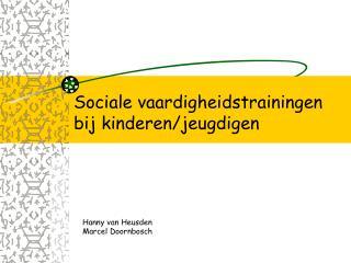 Sociale vaardigheidstrainingen bij kinderen