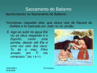 Sacramento do Batismo