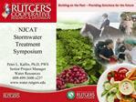 NJCAT Stormwater Treatment Symposium