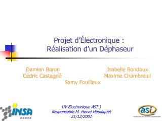 Projet d  lectronique :  R alisation d un D phaseur