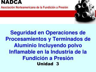 Seguridad en Operaciones de   Procesamientos y Terminados de Aluminio Incluyendo polvo Inflamable en la Industria de la