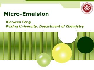 Micro-Emulsion