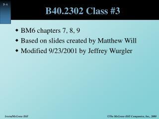 B40.2302 Class 3