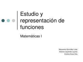 Estudio y representaci n de funciones