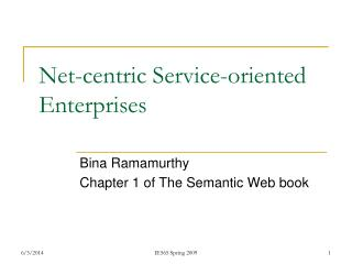 Net-centric Service-oriented Enterprises