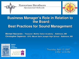 Thursday, April 12, 2007 3 PM - 4:15 PM