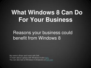 Enhance Your Business With Windows 8