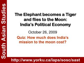 The Elephant becomes a Tiger