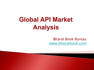 Global API Market Analysis