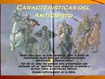 Caracter sticas del Anticristo