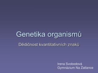 Genetika organismu