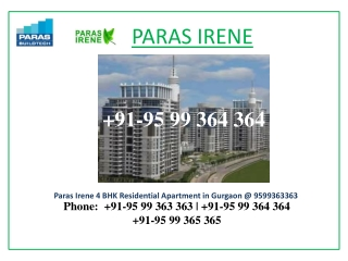 irene New Projects Sector 70A  Call 9599363363