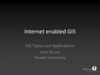 Internet enabled GIS
