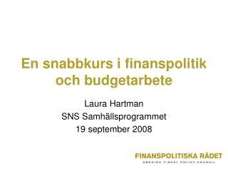 En snabbkurs i finanspolitik och budgetarbete