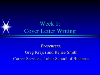 Cover Letter  Resume Workshop