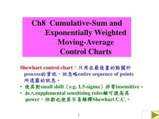 Ch8  Cumulative-Sum and            Exponentially Weighted           Moving-Average           Control Charts