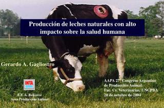 AAPA 27  Congreso Argentino de Producci n Animal Fac. Cs. Veterinarias. UNCPBA 20 de octubre de 2004