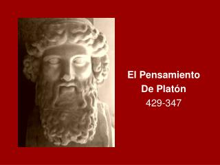 El Pensamiento  De Plat n 429-347