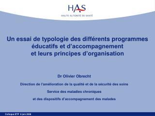 Un essai de typologie des diff rents programmes  ducatifs et d accompagnement  et leurs principes d organisation