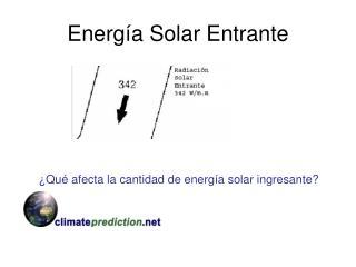 Energ a Solar Entrante