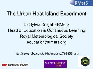 The Urban Heat Island Experiment