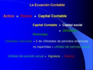 La Ecuaci n Contable