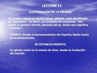 LECCI N 13